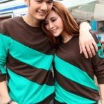 เสื้อคู่ชาย+หญิง น้ำตาลเขียว