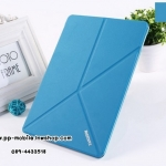 Original Remax Ultra Thin Auto Sleep/ Wake Y Fold Stand PU Leather Transparent Back Cover Smart Case for iPad 6 / iPad air 2