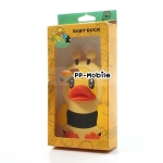 Cute Baby Duck in Bee Dressing for iPhone 4s Jelly Silicone Case