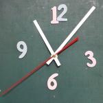ชุดตัวเครื่องนาฬิกาญื่ปุนเดินเรียบ เข็มลายโมเดิน ขนาดใหญ่ เข็มสั้น-เข็มยาวสีขาว เข็มวินาทีสีแดง อุปกรณ์ DIY