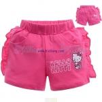กางเกงเด็กขาสั้นKitty สีชมพูเข้ม ไซส์ 95