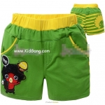 กางเกงเด็กขาสั้นสีเขียว ไซส์ 130