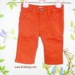 กางเกงยีนส์เด็กสีส้มอิฐ(ขาสั้น) ไซส์  3Y
