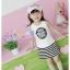 ชุดเดรส เด็กสีขาว สกีน Like a Rolling Stone กระโปรงลายริ้วสีขาว-ดำ สไตล์เด็กเกาหลี น่ารัก ขนาด13 thumbnail 1