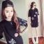 เดรสเสื้อยืดแฟชั่นเกาหลีสกีนลายน่ารัก JY0018 thumbnail 2