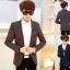เสื้อสูทแฟชั่นเกาหลี รุ่นลายสก๊อต thumbnail 1