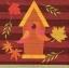 แนวภาพศิลปะ บ้านต้นไม้บนพื้นลายไม้ พร้อมลายแต่ง ภาพโทนสีน้ำตาล เป็นภาพ 4 บล๊อค กระดาษแนพกิ้นสำหรับทำงาน เดคูพาจ Decoupage Paper Napkins ขนาด 33X33cm thumbnail 1