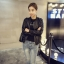 เสื้อคลุมแขวนยาวแจ็คเก็ตหนัง PU แฟชั่นเกาหลี JK0002 thumbnail 2