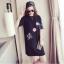 เดรสเสื้อยืดแฟชั่นเกาหลีสกีนลายน่ารัก JY0018 thumbnail 4