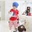 ชุดเซตเด็ก เสื้อ +กางเกง น่ารักสไตล์เกาหลี เก๋มากค่ะขนาด120 thumbnail 1