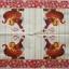 แนวภาพคริสมาสต์ แซนด้าครอส กับรถเลื่อนของขวัญ ภาพโทนสีแดงครีม เป็นภาพ 4 บล๊อค กระดาษแนพกิ้นสำหรับทำงาน เดคูพาจ Decoupage Paper Napkins ขนาด 33X33cm thumbnail 2