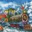 แนวภาพ Christmas รถไฟของขวัญซานเต้า กระดาษแนพกิ้นสำหรับทำงาน เดคูพาจ Decoupage Paper Napkins เป็นภาพแนวยาว ขนาด 33X33cm thumbnail 1