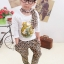 Huanzhu kids ชุดแฟชั่นเด็ก 3 ชิ้น เสื้อแขนยาวสีขาว สกีนรูปเสือ +กางเกงลายเสือ + ผ้าพันคอน่ารักสไตล์เกาหลี เก๋มากค่ะ thumbnail 1