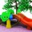 สถานีต้นไม้รางสไลด์ 2 สี SIZE:140X240X60 cm. thumbnail 1