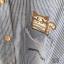 Woodie Button Stripe Shirt with cutie kitten เสื้อเชิ้ตแขนยาวผ้าฝ้าย 100% สีฟ้าอ่อน แต่งด้วยกระดุมไม้ ดูดีมากค่ะ พร้อมงานปักน่่ารักๆรูปน้องแมวตรงช่วงกระเป๋า จะใส่ทำงาน ใส่เที่ยวก็ได้หมดค่ะ thumbnail 4