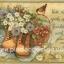กระดาษอาร์ตพิมพ์ลาย สำหรับทำงาน เดคูพาจ Decoupage แนวภาำพ friendship ปลูกดอกไม้ในรองเท้าบูท มีตระกร้าใส่สตอเบอร์รี่อยู่บนเสื่อปิกนิค (ปลาดาวดีไซน์) thumbnail 1