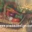 กระดาษสาพิมพ์ลาย สำหรับทำงาน เดคูพาจ Decoupage แนวภาำพ บ้านและสวน ตระกร้าใส่ผัก มะเขือเทศ แครอท พริกหวาน กระเทียม เป็นภาพวาด (ปลาดาวดีไซน์) thumbnail 1
