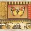 กระดาษสาพิมพ์ลาย สำหรับทำงาน เดคูพาจ Decoupage แนวภาำพ ผีเสื้อตัวสวยบินอยู่ในภาพแนวแอลสแตรค สไตล์วินเทจ (ปลาดาวดีไซน์) thumbnail 1