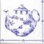 แนวภาพวินเทจ กาน้ำชา กับ ชุดถ้วยชา สีคราม บนพื้นขาว เป็นภาพโทนสีฟ้า เป็นภาพ 2 บล๊อค กระดาษแนพกิ้นสำหรับทำงาน เดคูพาจ Decoupage Paper Napkins ขนาด 33X33cm thumbnail 1