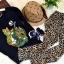 Huanzhu kids ชุดเซตเด็ก 3 ชิ้น เสื้อแขนยาวสีดำ สกีนรูปเสือ +กางเกงลายเสือ + ผ้าพันคอน่ารักสไตล์เกาหลี เก๋มากค่ะ thumbnail 5