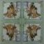 แนวภาพสัตว์ ภาพวาดลงสีวัวพร้อมถังนม พื้นหลังสีครีม ในกรอบสีเขียว เป็นภาพ 4 บล๊อค กระดาษแนพกิ้นสำหรับทำงาน เดคูพาจ Decoupage Paper Napkins ขนาด 33X33cm thumbnail 2
