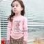 Huanzhu kids ชุดแฟชั่นเด็ก 2 ชิ้น เสื้อสีชมพู ลายแมว+ กางเกงลายสก็อต น่ารักสไตล์เกาหลี thumbnail 2