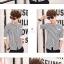 เสื้อเชิ๊ต ลายตรง แฟชั่นเกาหลี เสื้อผ้าทอม[Pre-Order] thumbnail 8