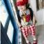 Huanzhu kids ชุดเซตเด็ก เสื้อสกรีนรูปนก smile +กางเกง ลายสกอตสีขาวแดง น่ารักสไตล์เกาหลี เก๋มากค่ะ thumbnail 2