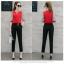 ชุดแฟชั่น เสื้อ ชีฟอง คู่ กางเกง สไตล์เกาหลี 3 set thumbnail 3