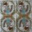 แนวภาพศิลปะ ภาพชายหญิงยุโรปโบราณ ในกรอบดอกไม้ ภาพโทนสีครีม เป็นภาพ 4 บล๊อค กระดาษแนพกิ้นสำหรับทำงาน เดคูพาจ Decoupage Paper Napkins ขนาด 33X33cm thumbnail 2