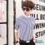 เสื้อเชิ๊ต ลายตรง แฟชั่นเกาหลี เสื้อผ้าทอม[Pre-Order] thumbnail 1