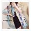 PR040-B ผ้าพันคอแฟชั่น ผ้าคลุมไหล ผ้าไหม พิมพ์ลาย สีเขียว ขนาด กว้าง 90 ยาว 180 cm. thumbnail 3