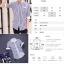 เสื้อเชิ๊ต ลายตรง แฟชั่นเกาหลี เสื้อผ้าทอม[Pre-Order] thumbnail 2