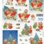 กระดาษ 3D สร้างลายนูน หมีน้อยคู่หูกับของขวัญ บนรถเลื่อน กับต้นคริสมาสต์ 2 ภาพ ขนาด A4 thumbnail 1