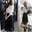ชุด เสื้อเชิ้ต คูู่ กระโปรง ทรงยาว JN005 thumbnail 4