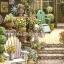 กระดาษสาพิมพ์ลาย สำหรับทำงาน เดคูพาจ Rice paper Decoupage แนวภาพ บ้านและสวน เก้าอี้ในสวนหน้าบ้าน ภาพแนวนอน by Pladao Design Handmade thumbnail 1