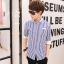 เสื้อเชิ๊ต ลายตรง แฟชั่นเกาหลี เสื้อผ้าทอม[Pre-Order] thumbnail 5
