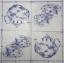แนวภาพวินเทจ กาน้ำชา กับ ชุดถ้วยชา สีคราม บนพื้นขาว เป็นภาพโทนสีฟ้า เป็นภาพ 2 บล๊อค กระดาษแนพกิ้นสำหรับทำงาน เดคูพาจ Decoupage Paper Napkins ขนาด 33X33cm thumbnail 2