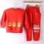 Huanshu kids ชุดเซ็ทเด็ก เสื้อแขนยาวคอกลม + กางเกงขายาว สไตล์เกาหลี ขนาด100,110 thumbnail 5
