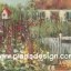 กระดาษสาพิมพ์ลาย สำหรับทำงาน เดคูพาจ Decoupage แนวภาำพ บ้านและสวน ลายพุ่มดอกไม้หลากสีสันหน้ารั้วไม้ของบ้านสวย เป็นภาพวาดสีฟุ้งๆ (ปลาดาวดีไซน์) thumbnail 1