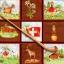 แนวภาพท่องเที่ยว ภาพสัตว์ ธง บ้าน ของพื้นเมือง ในกรอบเล็กๆ ประเทศสวิตเซอร์แลนด์ ภาพโทนสีน้ำตาล เป็นภาพแนวยาว กระดาษแนพกิ้นสำหรับทำงาน เดคูพาจ Decoupage Paper Napkins ขนาด 33X33cm thumbnail 1