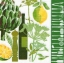 แนวภาพอาหาร ภาพลายแต่งผลไม้ ขวดไวน์ ดอกไม้ บนพื้นขาว กับขอบแต่งอุปกรณ์ครัว เป็นภาพโทนสีเขียว เป็นภาพ 4 บล๊อค กระดาษแนพกิ้นสำหรับทำงาน เดคูพาจ Decoupage Paper Napkins ขนาด 33X33cm thumbnail 1