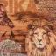 แนวภาพซาฟารี ชีวิตสัตว์ อาฟริกา สิงโต เสือ ม้าลาย รีาฟ ภาพโทนสีน้ำตาล เป็นภาพแนวยาว กระดาษแนพกิ้นสำหรับทำงาน เดคูพาจ Decoupage Paper Napkins ขนาด 33X33cm thumbnail 1