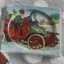 ที่รองแก้ว แพ็คคู่ ลายซานตาครอสกับรถโบราณแบบวินเทจ มีร่องรองน้ำค่ะ thumbnail 2