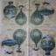 แนวภาพศิลปะ ภาพวาดบอลลูนลายแต่งสีฟ้า ภาพโทนสีครีม เป็นภาพ 4 บล๊อค กระดาษแนพกิ้นสำหรับทำงาน เดคูพาจ Decoupage Paper Napkins ขนาด 33X33cm thumbnail 2