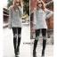 LG016 กางเกงเลคกิ้งขายาว ประดับด้วยลายน่ารัก มี 12 ลาย thumbnail 32