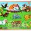 จิ๊กซอว์ไม้หมุดดึงรูปสัตว์ฟาร์ม thumbnail 1