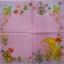 แนวภาพเด็กอ่อน ลายเด็กน้อยกับพระจันทร์ ในกรอบของเล่นเด็ก ภาพโทนสีชมพู เป็นภาพเต็มแผ่น กระดาษแนพกิ้นสำหรับทำงาน เดคูพาจ Decoupage Paper Napkins ขนาด 33X33cm thumbnail 2