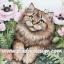 กระดาษสาพิมพ์ลาย สำหรับทำงาน เดคูพาจ Decoupage แนวภาำพ ลูกแมวตัวน้อยขนฟู ตาแป๋ว นอนใกล้ๆดอกบัว thumbnail 1