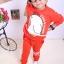Huanshu kids ชุดเซ็ทเด็ก เสื้อแขนยาวคอกลม + กางเกงขายาว สไตล์เกาหลี (110,120) thumbnail 2